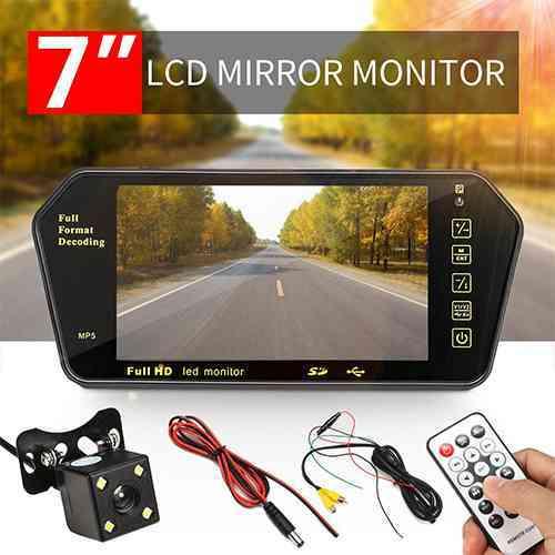 7'' HD 5MP Bluetooth Car Rear View Mirror
