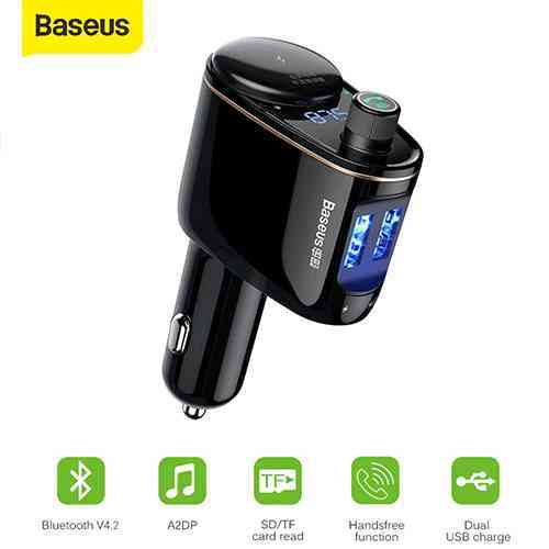 Baseus Locomotive FM Transmitter Bluetooth MP3 Vehicle Charger