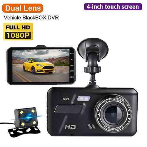 Car DVR Touch Camera 4inch IPS Dual Lens Car FHD 1080P