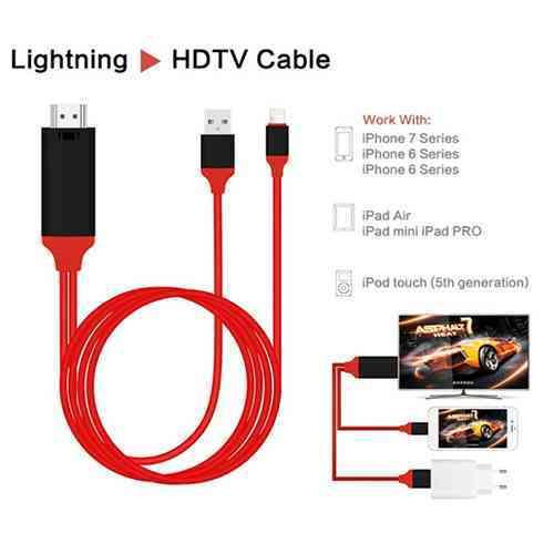 Lightning To HDMI HDTV Cable Digital AV Adapter For iPhone