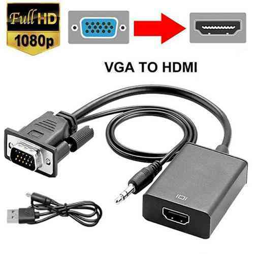 VGA to HDMI Converter Cable with Audio Support Sri Lanka