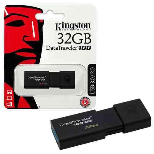 Kingston 32GB Pen Drive USB 3.0 Flash Drive DataTraveler 100 G3