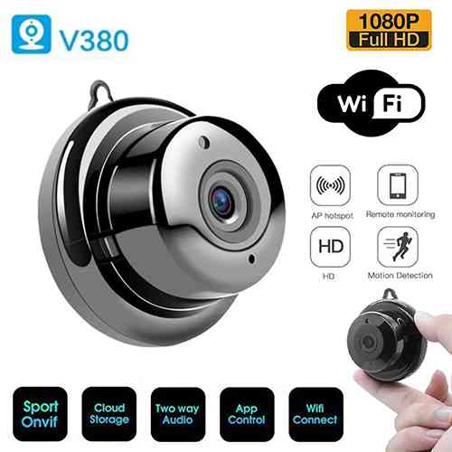 Wireless Mini IP Camera V380 Wifi Camera Sri Lanka