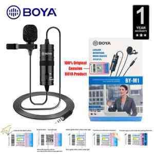 BOYA M1 Clip Mic Omnidirectional Lavalier Microphone